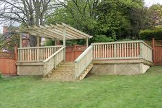 Image of: elevated deck ideas deck plans raised patio deck raised concrete deck concrete deck Sloped Backyard, Sloped Garden, Backyard Pool Designs, Backyard Landscaping, Tiered Deck, Tiered Garden, Elevated Deck Ideas, Gazebo On Deck, Stone Deck