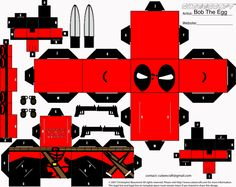 Deadpool Cubee by BobTheEgg.deviantart.com on @deviantART