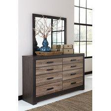 Harlinton 8 Drawer Dresser with Mirror