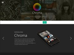 Landing Page for Chroma App by Eric Hoffman