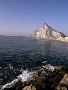 The Rock of Gibraltar, Mediterranean Photographic Print by Charles Bowman at AllPosters.com