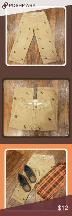 Boys Corduroy with embroidered deer pant Great winter boys size 4T  corduroy pants with embroidered deer EUC Clean non smoking home Greendog Bottoms Casual