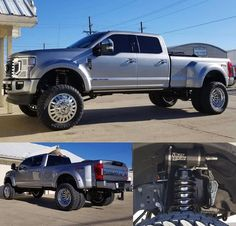 2020 Ford Super Duty equipped with a Fabtech 4 Link Lift Kit and Dirt Logic Coilover Ford Super Duty, Lift Kits, Monster Trucks, Link, Vehicles, Vehicle