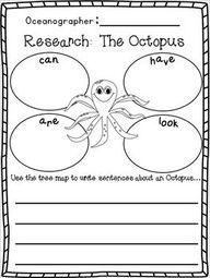 Ocean writing activities for preschoolers