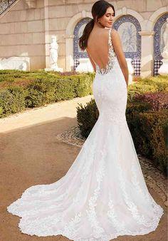 Sincerity Bridal Wedding Dresses, Lace Wedding Dress, Fit And Flare Wedding Dress, Perfect Wedding Dress, Bridal Dresses, Flare Dress, Backless Wedding Gowns, Fitted Wedding Dresses, Wedding Dress Pictures