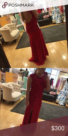 Prom dress It's a size 10, but it's stretchy material! Worn once! It was also hemmed to about a 5'4 height and i wore 3 inch heels Dresses Prom