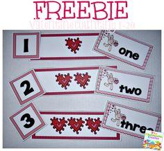 FREEBIE: Valentine Counting 1-20