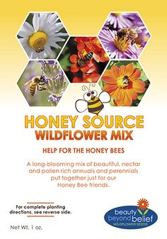 Honey Source Mix for your garden, help the honey bees
