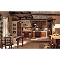 Modern or traditional designer kitchen of Berloni Beautiful Houses Interior, Vintage Kitchen, Kitchen Tiles Design, Kitchen Cabinet Styles, Home Decor, House Interior, Modern Kitchen Design, Vintage Kitchen Cabinets, Rustic House