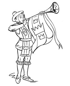BlueBonkers - Medieval Knights in Armor Coloring Sheets - Herald - Free Printable Knights, Kings, Queens Coloring pages Coloring Book Pages, Coloring Sheets, Castle Crafts, Medieval Party, Knight Party, Dragon Birthday, 17th Century Art, Knight Armor, Luther