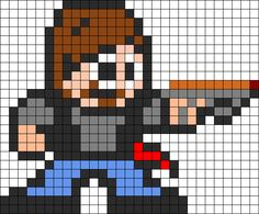 Walking+Dead+perler+beads | Choose which type of bead patterns you want to view by clicking a ...