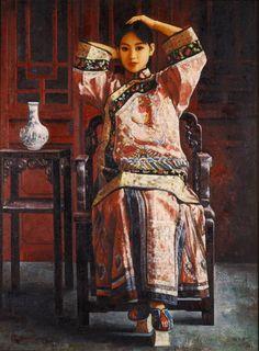 """Girl in festive costume"" by Di Li Feng."