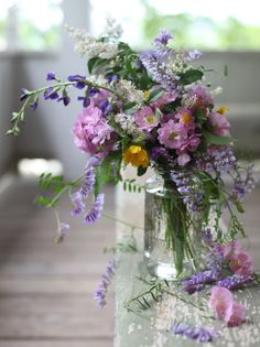 purple and yellow flowers in clear mason jar Flowers In Jars, Love Flowers, Wild Flowers, Beautiful Flowers, Yellow Flowers, Romantic Flowers, Wedding Flowers, Flower Quotes, Flower Aesthetic