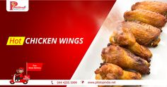 Order hot #chickenwings online from www.pitstopindia.net or call 044 4205 5999 for free home delivery.