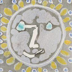 """Pablo Picaso  """"Tête de faune [PP0525]""""  Ceramic tile 8 x 8 inches  1956"""