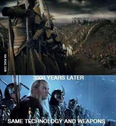 Probably the same elves too. They dont need to get new weapons and stuff! There ELVES for christ sake! Funny Tumblr Stories, Dog Quotes Funny, Funny Memes, Funny Pictures Of Women, Funny Pictures With Captions, Elf Memes, Funny Work Jokes, Funny Stuff, Funny Baby Photography