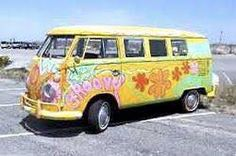 Groovy VW bus- own one of these. Hippie Auto, Kombi Hippie, Hippie Car, Hippie Life, Happy Hippie, Hippie Chick, Hippie Style, Vespa, Bus Camper