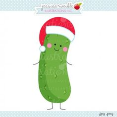 Christmas Pickle - cute #Christmas pickle #graphic #clipart #illustration