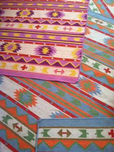 The Land of Nod - Tribal Dhurrie Rugs  www.goodbonesgreatpieces.com