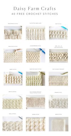 40 free crochet stitches from Daisy Farm Crafts knitted ideas . - 40 free crochet stitches from Daisy Farm Crafts knitted ideas 40 free croc - Basket Weave Stitch Crochet, Crochet Stitches Free, Crochet Bows, Crochet Diy, Crochet Amigurumi, Crochet Motifs, Crochet Diagram, Tunisian Crochet, Crochet Flowers