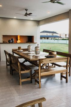Parrilla Interior, Porch And Terrace, Grill Design, Little Houses, Table And Chairs, Sweet Home, New Homes, My Dream Home, House Design