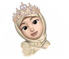 Wallpaper Fofos Coroa Ideas For 2019 Girl Hijab, Hijabi Girl, Girl Cartoon, Cartoon Art, Emoji Photo, Emoji Wallpaper Iphone, Hijab Drawing, Islamic Cartoon, Girl Emoji