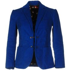 Dsquared2 Blazer ($550) ❤ liked on Polyvore featuring outerwear, jackets, blazers, blue, long sleeve blazer, dsquared2 jacket, blue jackets, lapel jacket and blue blazer jacket
