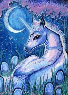ACEO - Moonglow by DawnUnicorn on DeviantArt