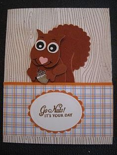 Stampin Up Halloween Punch Arts   Stampin' Up! Owl Punch Lynda Lee Squirrel   Stampin' Up! Owl Pun...