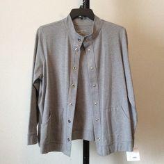 SALE NWT Grey long sleeve jacket 2 front pockets. Snap closure type  hqbtrzoqh Croft & Barrow Jackets & Coats
