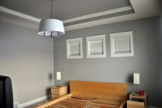 Natural Grey - Behr ( never considered pale grey for a bedroom before. I like!)