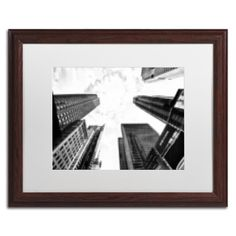 """Trademark Art 'Pixels Print Times Square' by Philippe Hugonnard Framed Photographic Print Size: 16"""" H x 20"""" W x 0.5"""" D"""