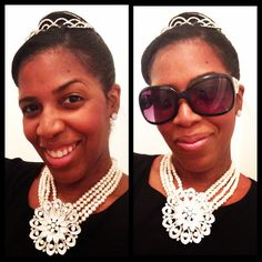 Breakfast At Tiffanys Audrey Hepburn inspired pearl necklace done by yours truly #diy #breakfastattiffanys
