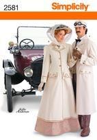 Simplicity 2581 Misses & Men Costumes  - Victorian Driving Coats sizes 8-18