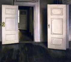 Vilhelm Hammershøi - Open Doors