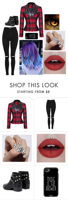 """Ashlee"" by ashleeramme ❤ liked on Polyvore featuring WithChic, Topshop, SoGloss, Senso and Casetify"
