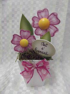 Vaso com 2 flores em mdf | Artesanatos Ingrid Carvalho | 170073 - Elo7
