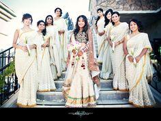 Beautiful store-bought bridesmaids' saree designs