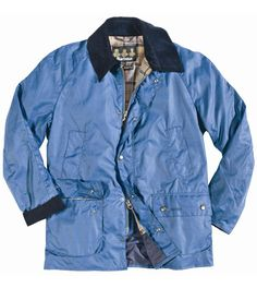 Men Barbour Ashby Waxed Jacket -Blue