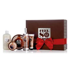 Grant your loved one's every body care wish this season with The Body Shop's Coconut Premium Selection Gift Set. The perfect gift for the coconut lover in your life! With Community Fair Trade organic virgin coconut oil from Samoa, holiday presents don't get much more indulgent! Includes: Coconut Shower Cream, Coconut Body Butter. Mini Coconut Body Scrub, Coconut Body Mist, & a Mini Coconut Hand Cream. This year we are partnering with WaterAid to provide families with safe water.