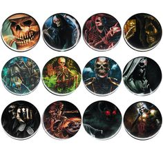 Punk Skeletons Button Badge Pinback Pin by AlienAndEarthling Button Badge, Metal Pins, Grim Reaper, Skull And Bones, Badger, Packers, Punk, Buttons, Skeletons