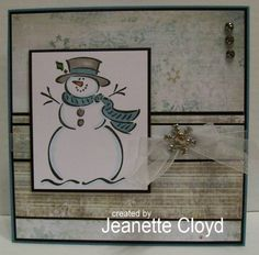 Soft and Subtle Snowman by Forest Ranger - Cards and Paper Crafts at Splitcoaststampers