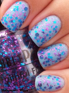 Mattified glitter love. | From Holographic Hussy