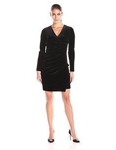 Calvin Klein Women's Long Sleeve V Neck Velvet Side Gathered Dress  V-neck velvet dress with long sleeve and side ruching Long sleeve Long sleeve V-neck  http://www.artydress.com/calvin-klein-womens-long-sleeve-v-neck-velvet-side-gathered-dress/