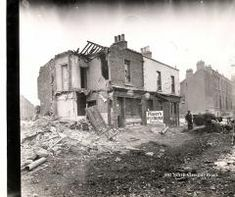 North Circular Road, no. Photograph illustrating some of the damage caused by the German bombing of the North Strand, Dublin Street, Dublin City, Old Pictures, Old Photos, Photo Engraving, City Council, Dublin Ireland, Past, Irish
