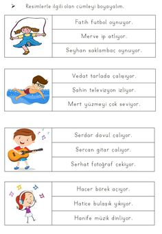 Alıntı Turkish Lessons, Learn Turkish, Turkish Language, Speech Therapy Activities, Learning Arabic, Grade 1, Autism, Worksheets, Preschool