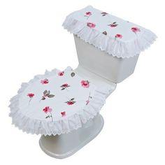 juego de baño rosas con tira bordada vianney