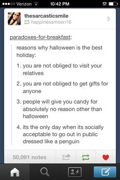Tumblr post:P I don't like halloween anymore, but this is funny XD