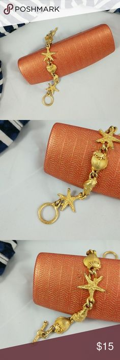 Nautical bracelet Lightweight.  Excellent condition.  The last picture shows the underside. Jewelry Bracelets