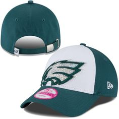 Philadelphia Eagles New Era Women s Glitter Glam 9FORTY Adjustable Hat -  White dedfe51d6